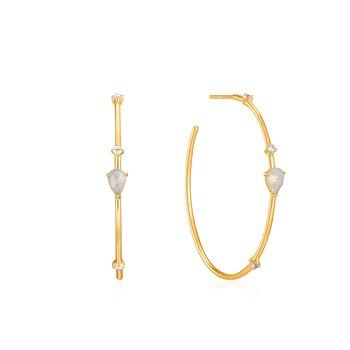Midnight Hoop Earrings