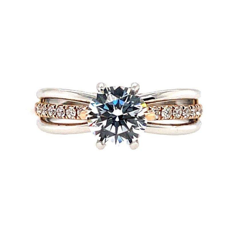 Kim International Romance Semi-Mounting Two Tone Center Ring