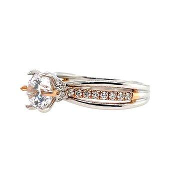 Romance Semi-Mounting Two Tone Center Ring