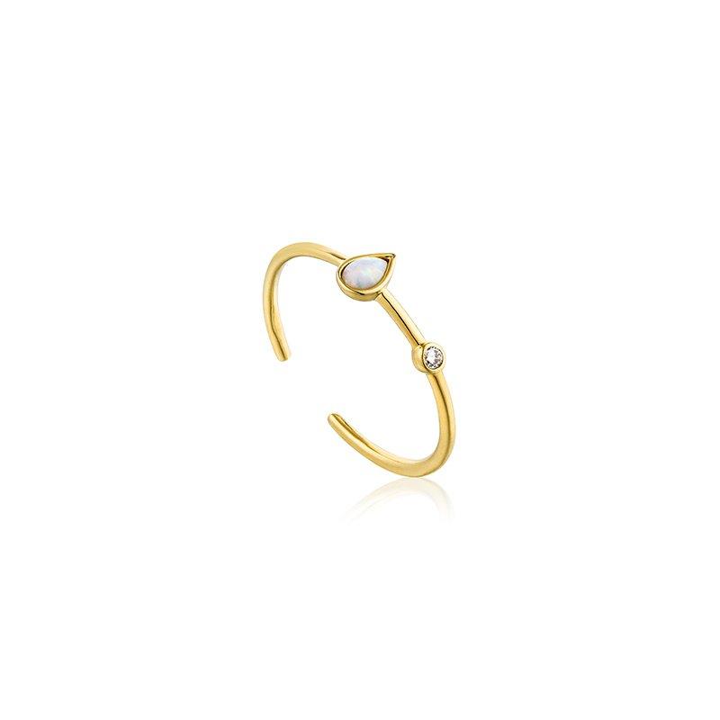 Ania Haie Opal Color Raindrop Adjustable Ring