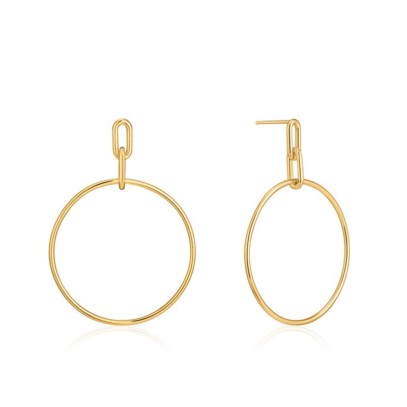 Ania Haie Cable Link Hoop Earrings