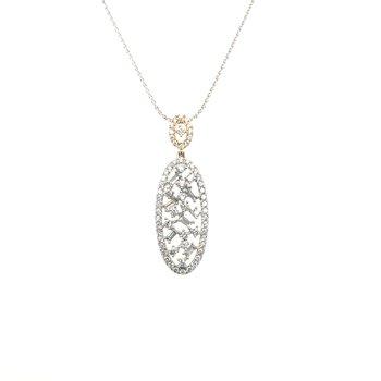 Round and Baguette Diamond Pendant