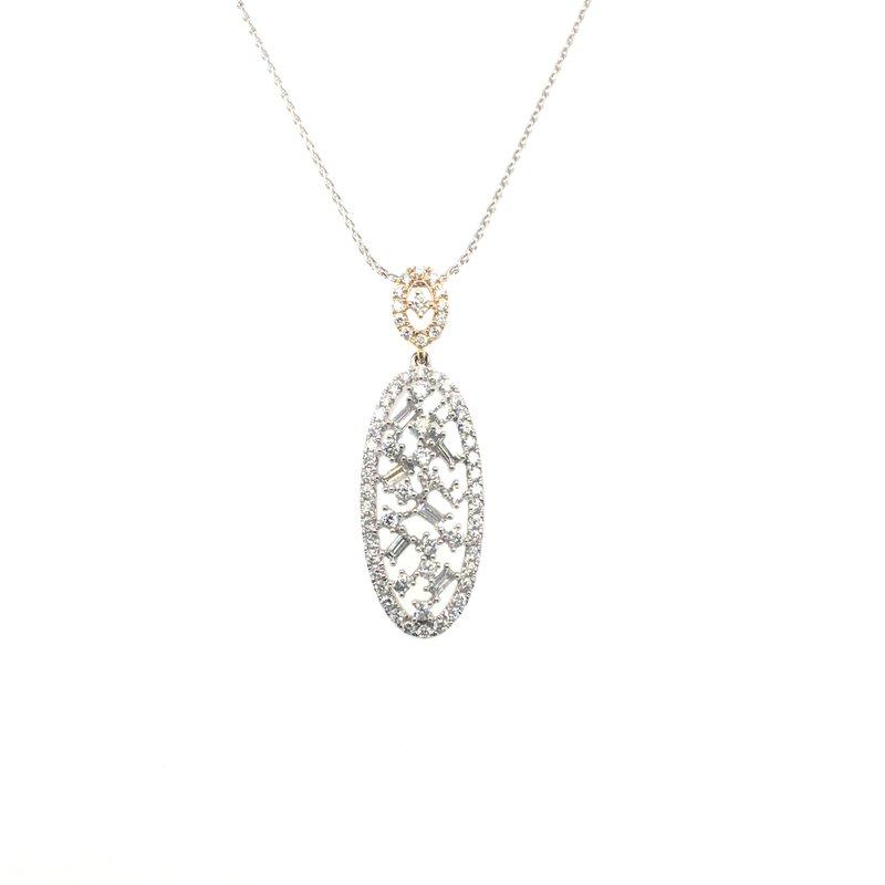 Variety Gem Round and Baguette Diamond Pendant