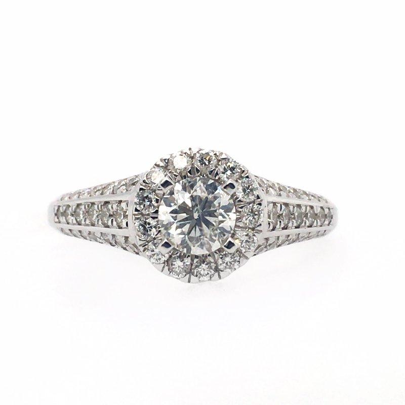 Gems One Diamond Halo Ring
