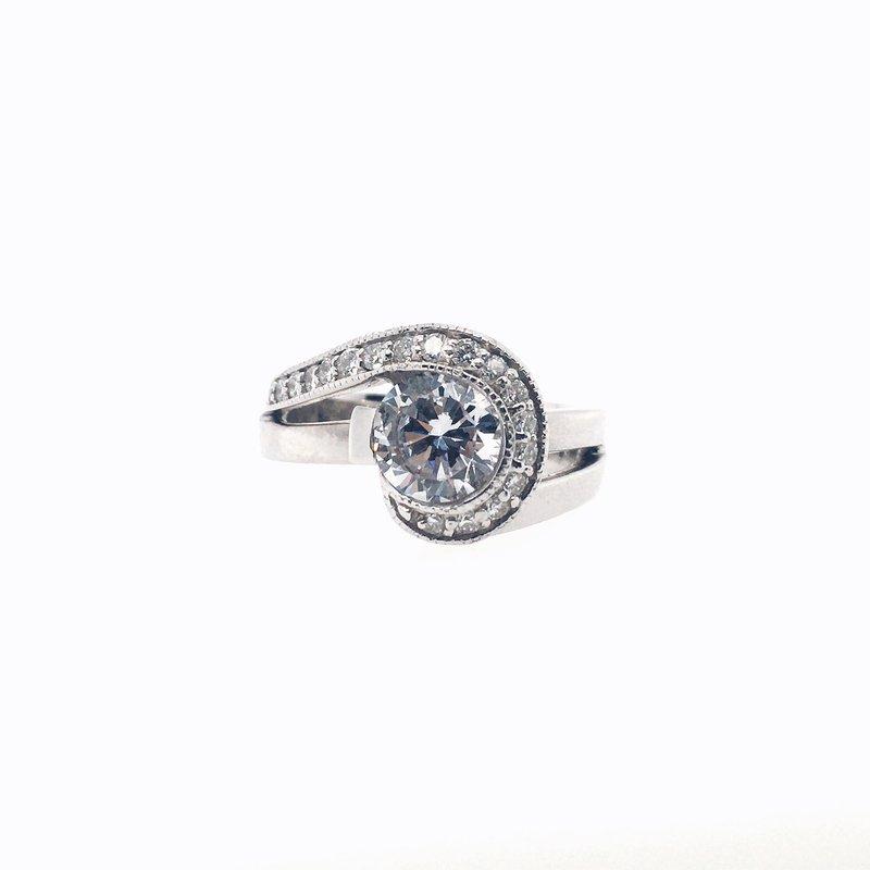 Frank Reubel Semi-Mount Cubic Zirconia Diamond Ring