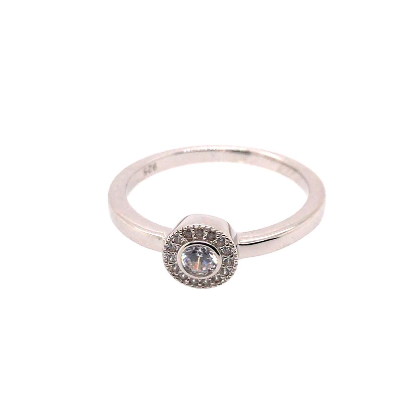 Kelly Waters Kelly Waters Micropave Round Simulated Diamonds Ring