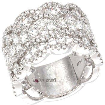 14 Karat White Gold Diamond Ring