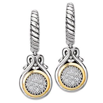 Eleganza Ladies Diamond Halo Earrings