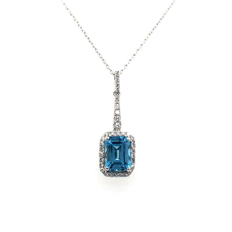 Variety Gem Blue Topaz and Diamond Pendant