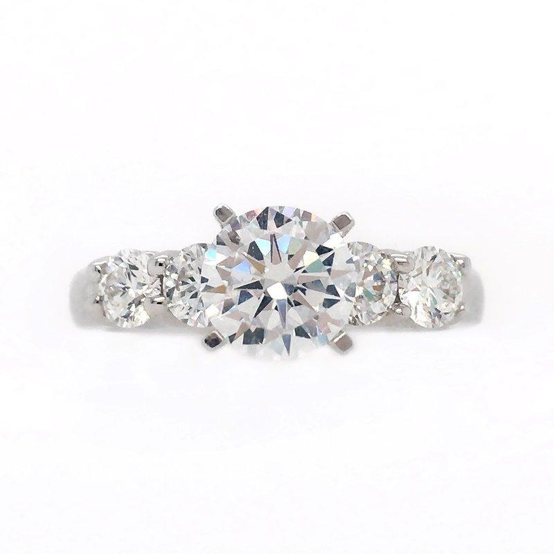 Variety Gem Semi-Mount Diamond Shared Prong Band Ring