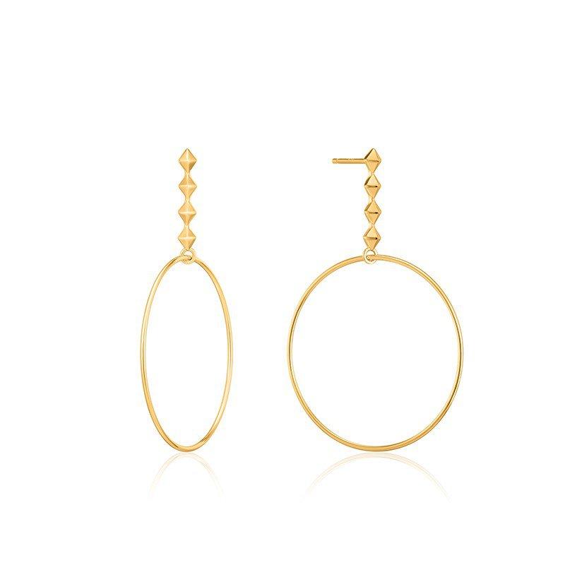 Ania Haie Gold Spike Hoop Earrings