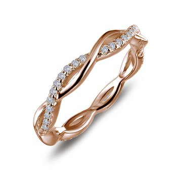 Simulated Diamond Twist Stackable Ring