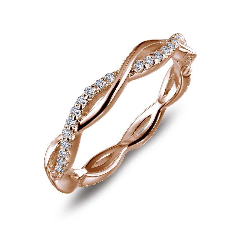 LaFonn Simulated Diamond Twist Stackable Ring