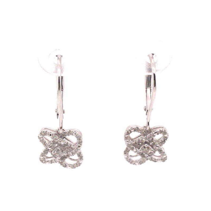 Gems One Loves Crossing Diamond Earrings