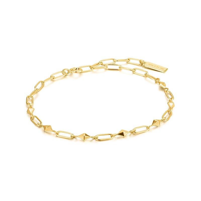 Ania Haie Gold Heavy Spike Bracelet