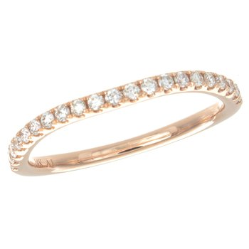 14 Karat Rose Gold Diamond Band Ring