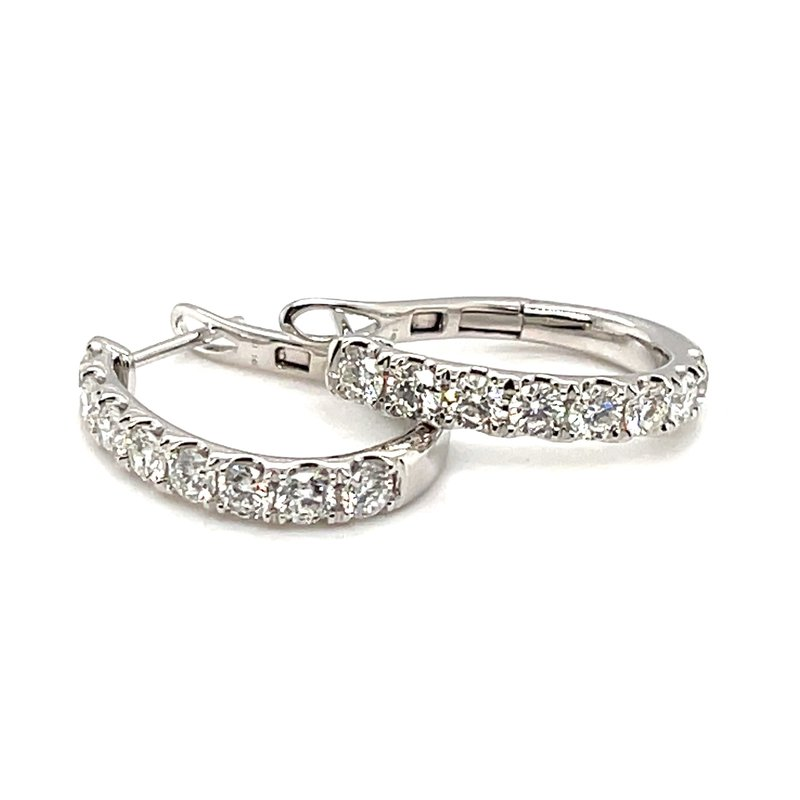 Kim International Diamond J Hoop Earrings