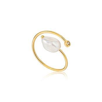Pearl Twist Adjustable Ring