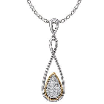Eleganza Ladies Sparkling Diamond Necklace