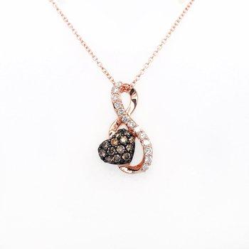 Levian Strawberry Gold® Pendant with Chocolate Diamonds®, Vanilla Diamonds®