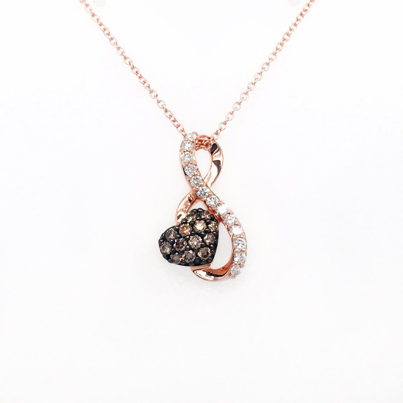Le Vian Levian Strawberry Gold® Pendant with Chocolate Diamonds®, Vanilla Diamonds®