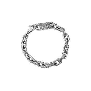Oval Link Crosshatch Bracelet