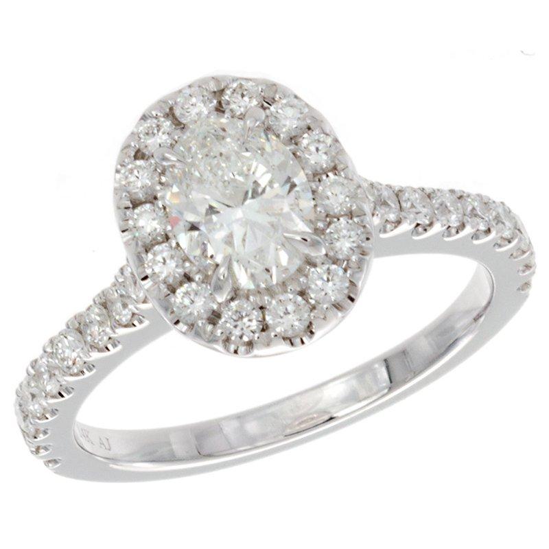 Amden Oval Diamond Engagement Ring