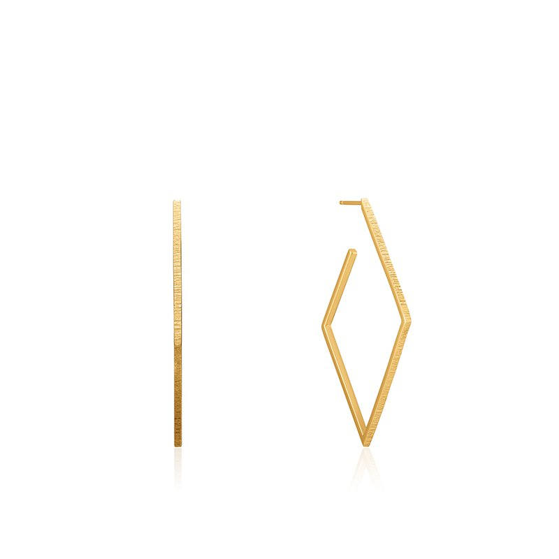 Ania Haie Texture Diamond Hoop Earrings