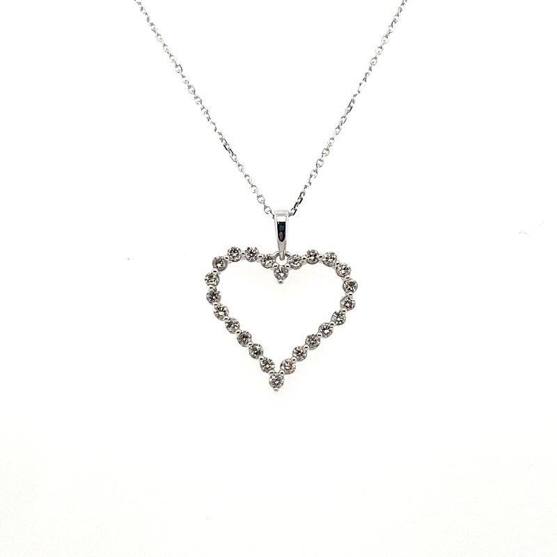Gems One Diamond Single Prong Heart Pendant