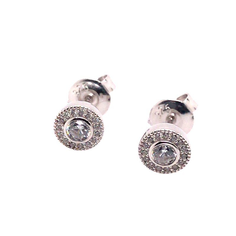 Kelly Waters Kelly Waters Micropave Round Simulated Diamonds Earrings