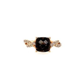 Levian Smokey Chocolate Quartz Fashion Ring