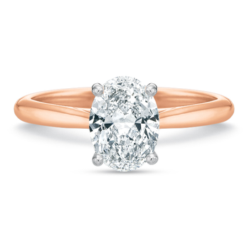 18K Rose Gold Semi Mount Solitaire