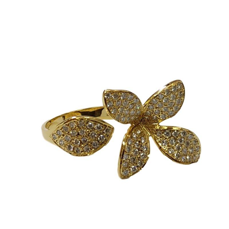 Marika Open Flower Diamond Ring