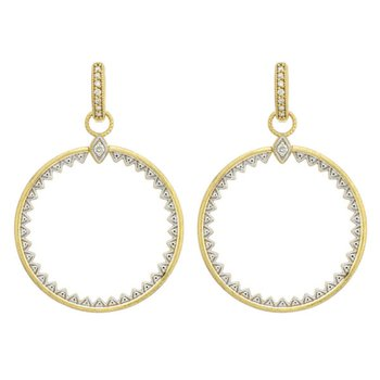 Lisse Open Circle Half Kite Earring Charms