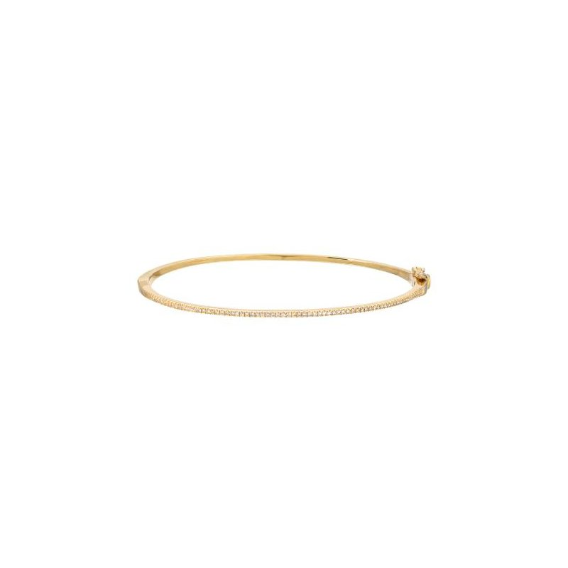 Zoe Lev Diamond Hinged Bangle