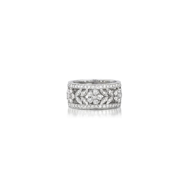 Penny Preville Wide Diamond Flower Band