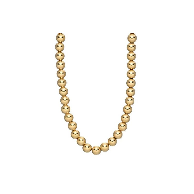 """Zoe Lev Gold Bead Necklace 16"""""""