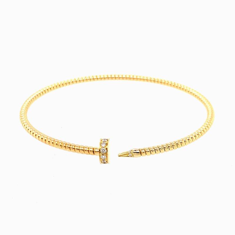 Antonio Papini Diamond Nail Bracelet