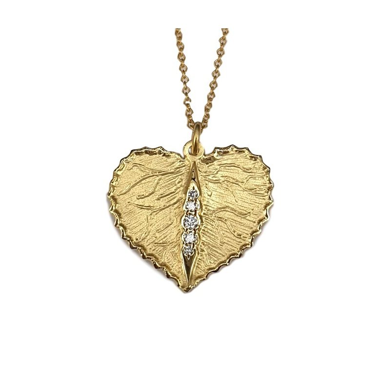 Marika Diamond Leaf Necklace
