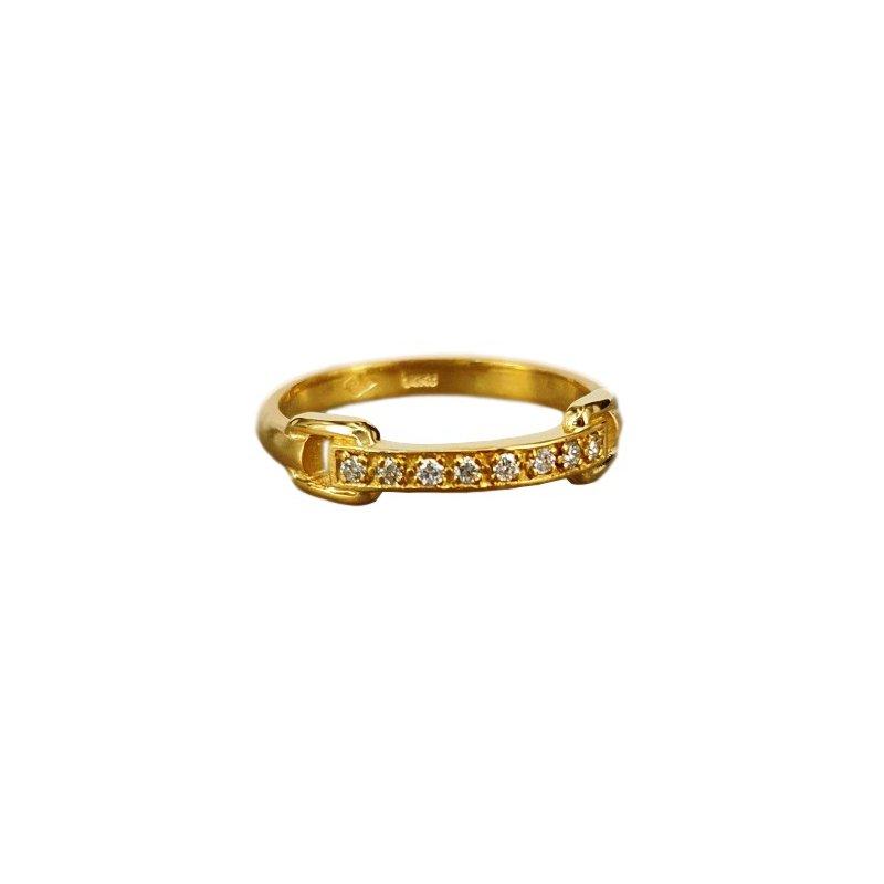 Marika Buckle Loop Diamond Ring