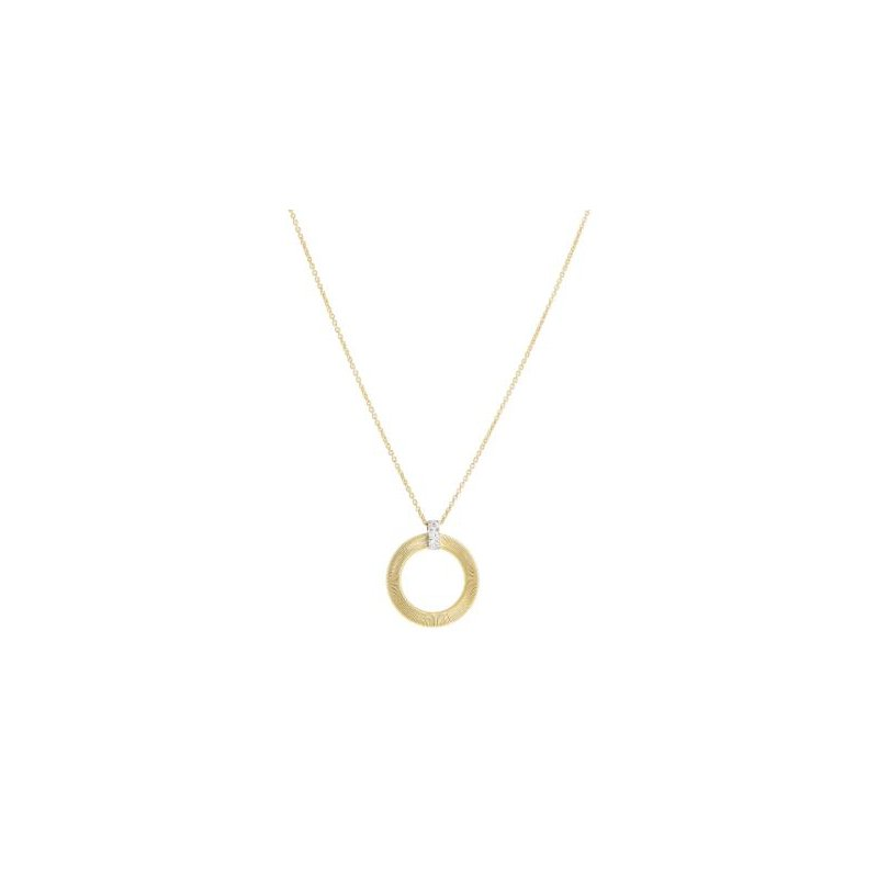 Marco Bicego Masai Open Circle Diamond Pendant Necklace