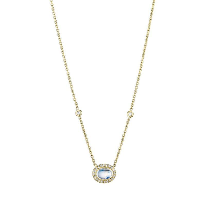 Penny Preville Oval Moonstone Pendant on Eyeglass Chain