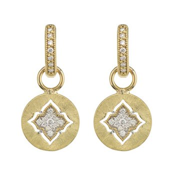 Moroccan Quatrefoil Disc Earring Charms
