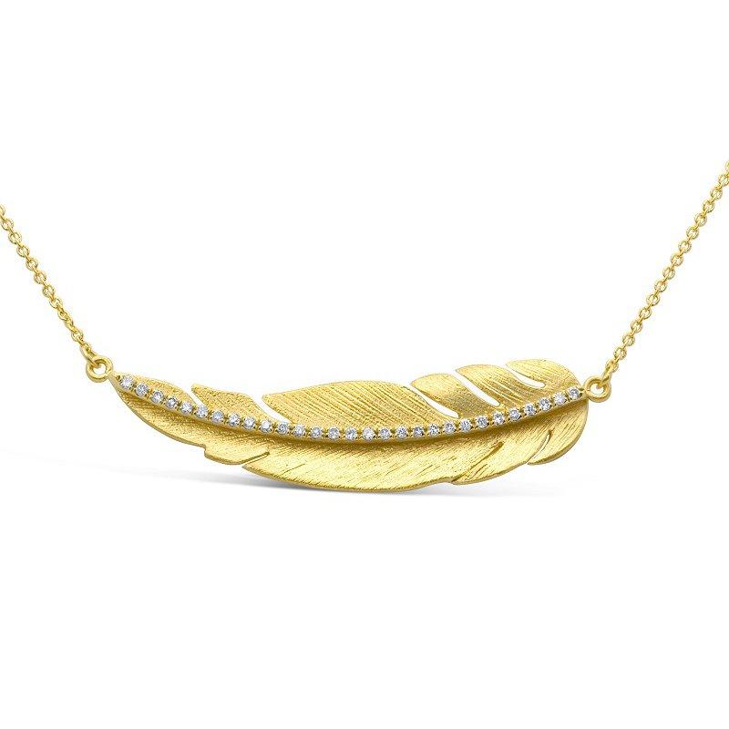 Marika Horizontal Leaf Necklace