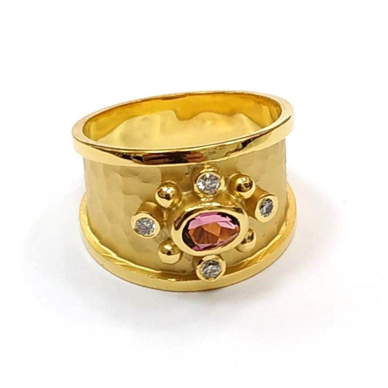 Marika Oval Pink Tourmaline & Diamond Ring