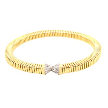 Open Point Diamond Cuff Bracelet