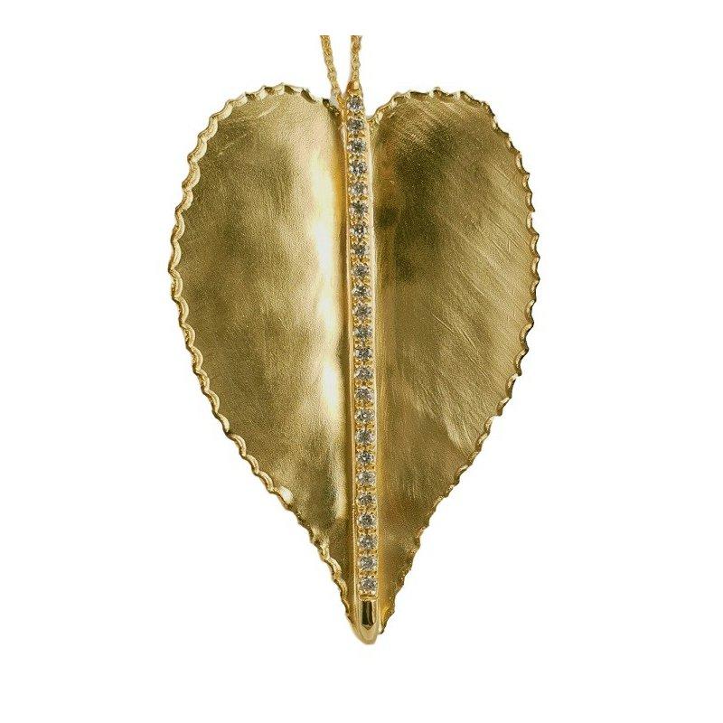 Marika Large Diamond Leaf Necklace