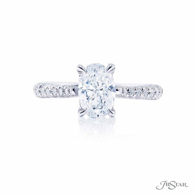 JB Star Oval Solitaire Engagement Ring