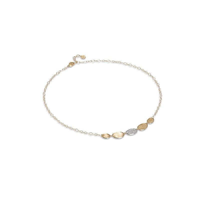 Marco Bicego Lunaria Diamond Petite Half Collar Necklace