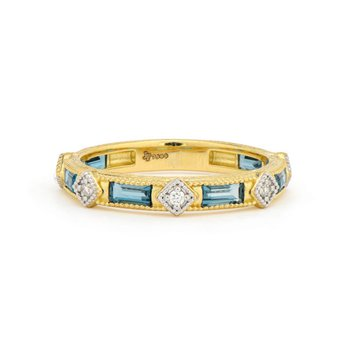 Lisse Diamond Kite & Topaz Band